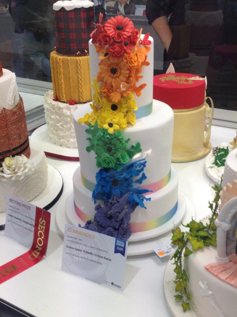 Rainbow wedding cake at Melbourne Show